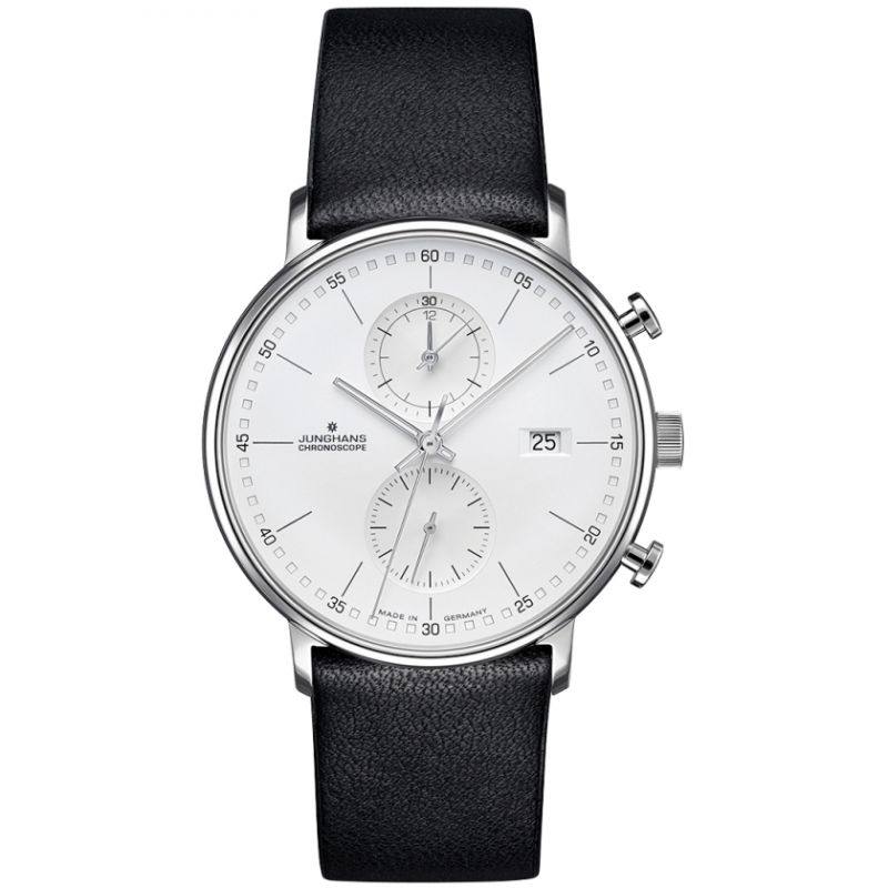 Mens Junghans FORM C Chronoscope Chronograph Watch 041/4770.00