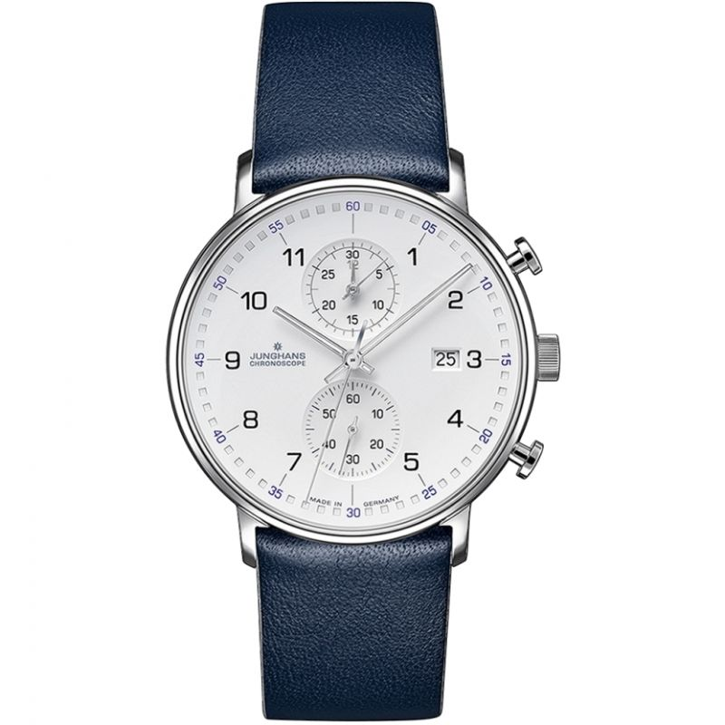 Mens Junghans FORM C Chronoscope Chronograph Watch 041/4775.00