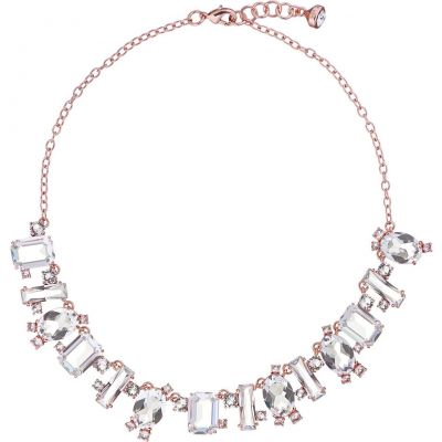 Ladies Ted Baker Rose Gold Plated Bellew Crystal Baguette Necklace TBJ1380-24-02