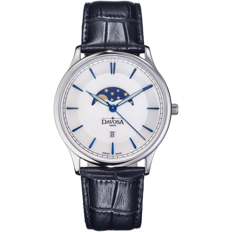 Mens Davosa Flatline Moonphase Watch