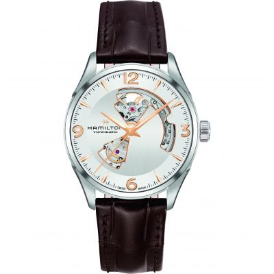 Hamilton Jazzmaster Open Heart Herrenuhr in Braun H32705551