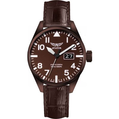 Aviator Airacobra P42 Herrenuhr in Braun V.1.22.8.151.4