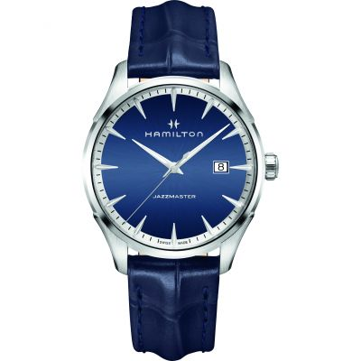Hamilton Jazzmaster Gents 40mm Herrenuhr in Blau H32451641