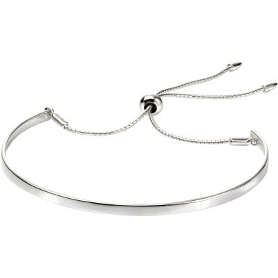 Ladies Beginnings Sterling Silver ID Friendship Bracelet B4943