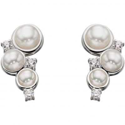 Joyería para Mujer Elements Cultured Pearl Stud Earrings E5359W