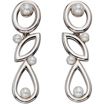 Joyería para Mujer Elements Cultured Pearl Drop Earrings E5358W