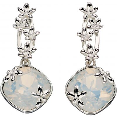 Damen Elements Floral Drops Ohrringe Sterling-Silber E5354W