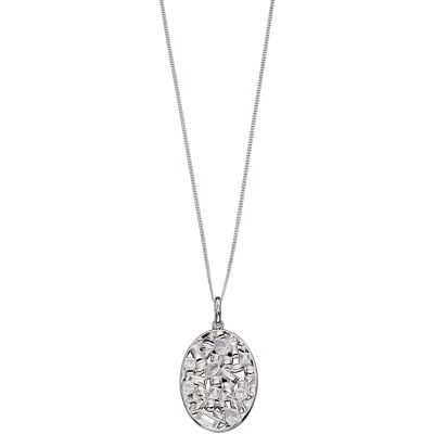 Ladies Elements Sterling Silver Oval Necklace P4431C
