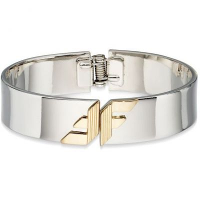 Ladies Fiorelli Two-tone steel/gold plate Bangle B4854