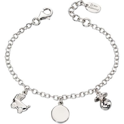 Bijoux Enfant D For Diamond Charm Bracelet B4889