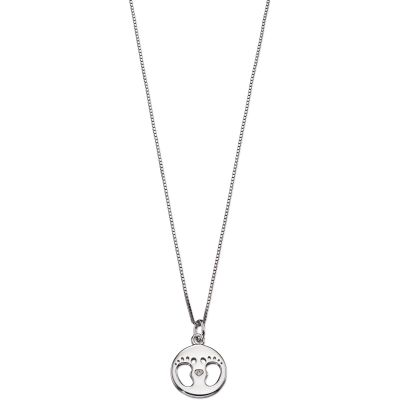 Bijoux Enfant D For Diamond Footprint Collier P4443