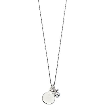 D For Diamond Barn Dummy Charm Necklace Sterlingsilver P4446