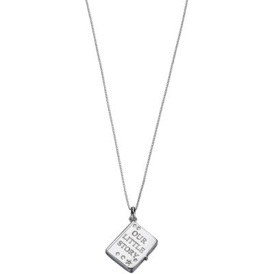 Bijoux Enfant D For Diamond Story Book Charm Collier P4421