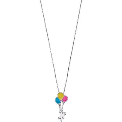 Childrens D For Diamond Sterling Silver Balloon Necklace P4420