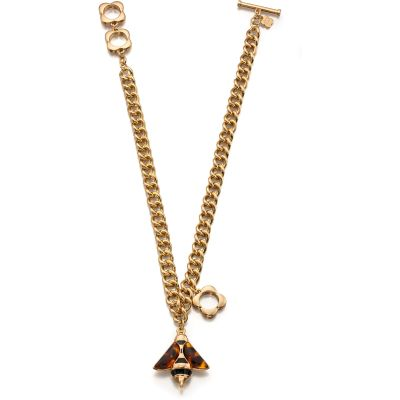 Ladies Orla Kiely Gold Plated Bee Necklace N4059