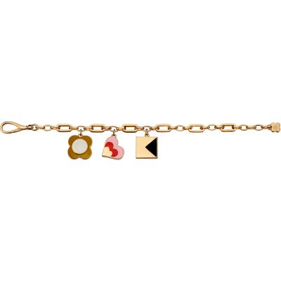 Ladies Orla Kiely Gold Plated Charm Bracelet B4947