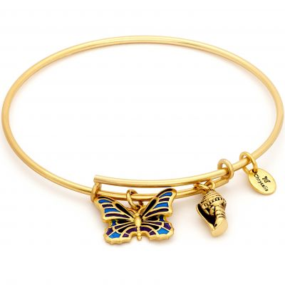 Ladies Chrysalis PVD Gold plated NATURE BUTTERFLY EXPANDABLE BANGLE CRBT2002GP