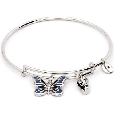Ladies Chrysalis Base metal NATURE BUTTERFLY EXPANDABLE BANGLE CRBT2002SP