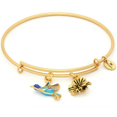 Ladies Chrysalis PVD Gold plated NATURE HUMMINGBIRD EXPANDABLE BANGLE CRBT2004GP