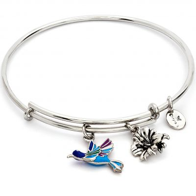 Ladies Chrysalis Base metal NATURE HUMMINGBIRD EXPANDABLE BANGLE CRBT2004SP