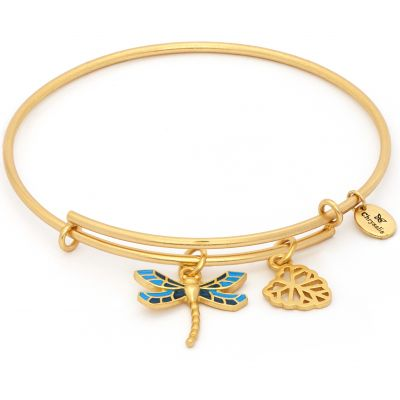 Ladies Chrysalis PVD Gold plated NATURE DRAGONFLY EXPANDABLE BANGLE CRBT2007GP