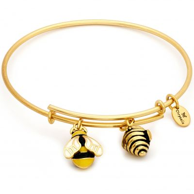 Ladies Chrysalis PVD Gold plated NATURE BUMBLE BEE EXPANDABLE BANGLE CRBT2010GP