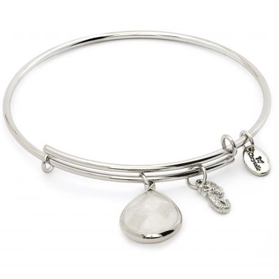 Ladies Chrysalis PVD Silver Plated APRil LUNAR CRYSTAL EXPANDABLE BANGLE CRBT2104SP