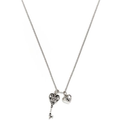 Ladies Chrysalis Silver Plated CHARMED KEY OF LIFE NECKLACE CRNT0203SP