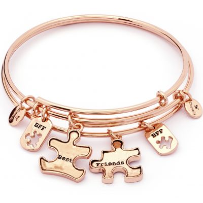Ladies Chrysalis PVD rose plating TWO OF A KIND BEST FRIENDS EXPANDABLE BANGLE CRBT1902RG