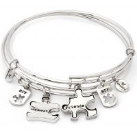 Ladies Chrysalis Base metal TWO OF A KIND BEST FRIENDS EXPANDABLE BANGLE CRBT1902SP