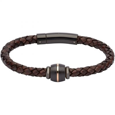 Biżuteria męska Unique & Co & Leather Bracelet B348ADB/21CM