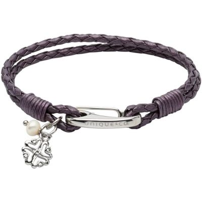 Unique Dames & Leather Bracelet Roestvrijstaal B360BE/19CM