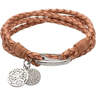 Biżuteria damska Unique & Co & Leather Bracelet B361NA/19CM