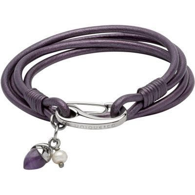 Unique Dames & Leather Bracelet Roestvrijstaal B366BE/19CM