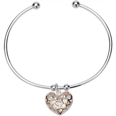 Ladies Unique & Co Sterling Silver Bangle MB-607