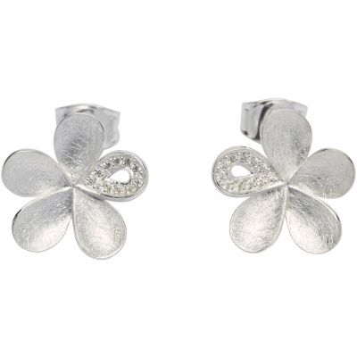 Unique Dam Flower Stud Earrings Sterlingsilver ME-603