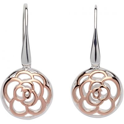 Unique Dam Flower Drop Earrings Sterlingsilver ME-608