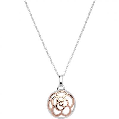 Unique Dam Flower Necklace Sterlingsilver MK-608