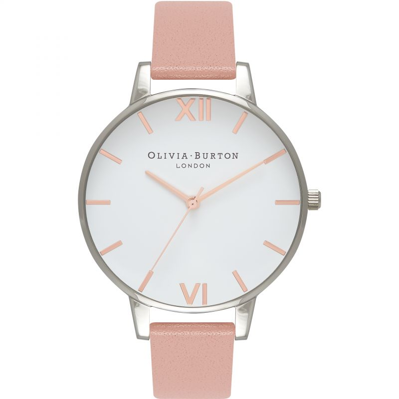 Ladies Olivia Burton White Dial Big Dial Watch OB16BDW26