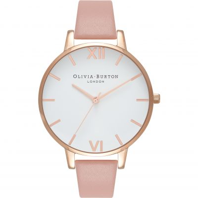 Montre Femme Olivia Burton White Dial Big Dial Silver Rose Gold & Dusty Pink OB16BDW25