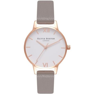 White Dial Rose Gold & Iced Coffee Watch