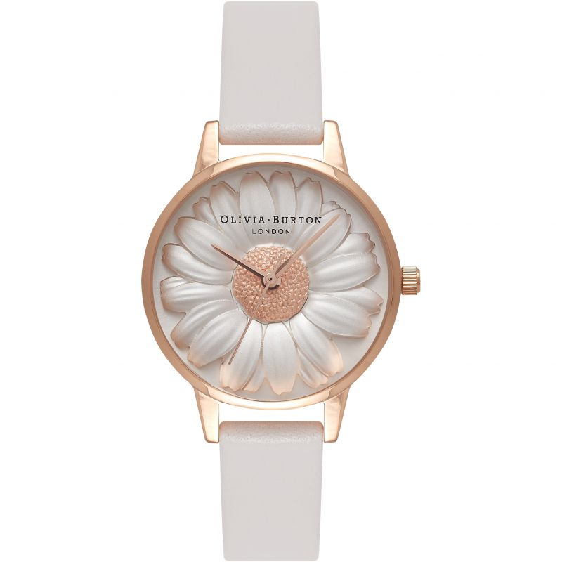 3D Daisy Vegan Friendly Grey & Rose Gold Watch
