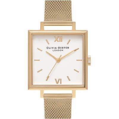 Olivia Burton Big Dial Square Dial Big Dial Square Dial Rose Gold & Gold Damenuhr in Gold OB16SS11