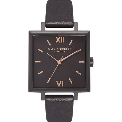 Big Dial Square Dial Rose Gold  & Black Watch