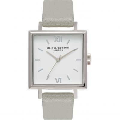 Square Dials Silver & Grey Watch