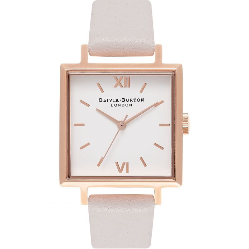 Ladies Olivia Burton Big Dial Square Dials Watch OB16SS15