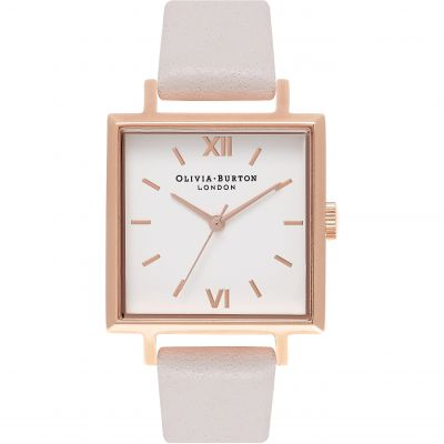 Square Dials Blush & Rose Gold Watch