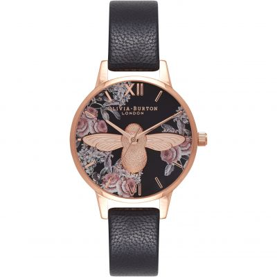 Montre Femme Olivia Burton Vegan Friendly Black & Black OB16AM100