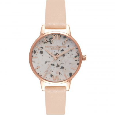Vintage Marble Rose Gold & Nude Peach Watch