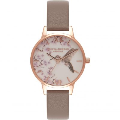 Olivia Burton Moulded Bee Moulded Bee Rose Gold & London Grey Damenuhr in Grau OB16PP17